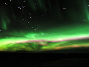 Approximately 10 minutes of Aurora Australis; you can see the apparent movement of the stars.