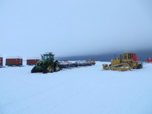 A John Deere prepares to leave for Halley VI